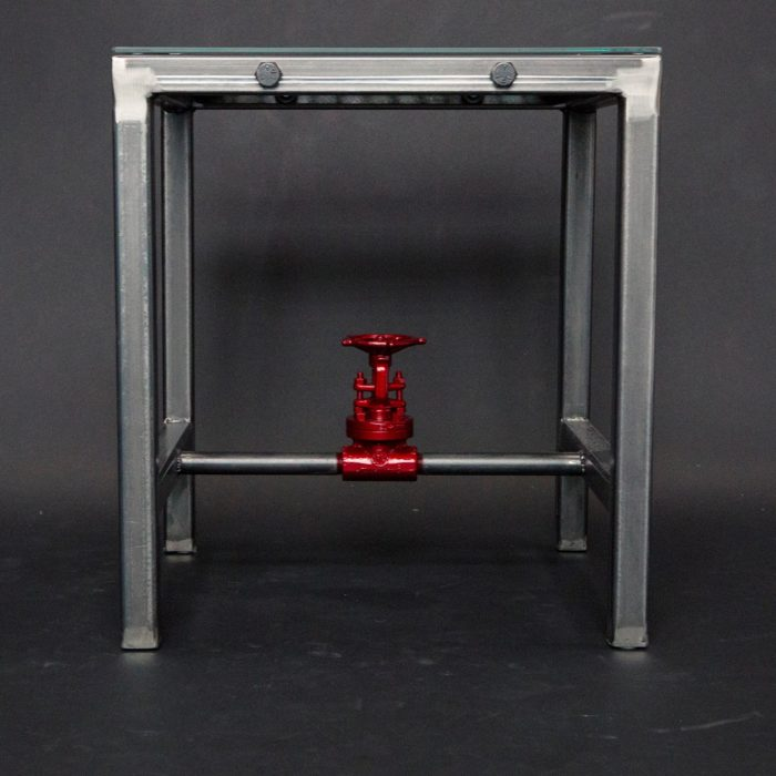 Red Valve Side Table